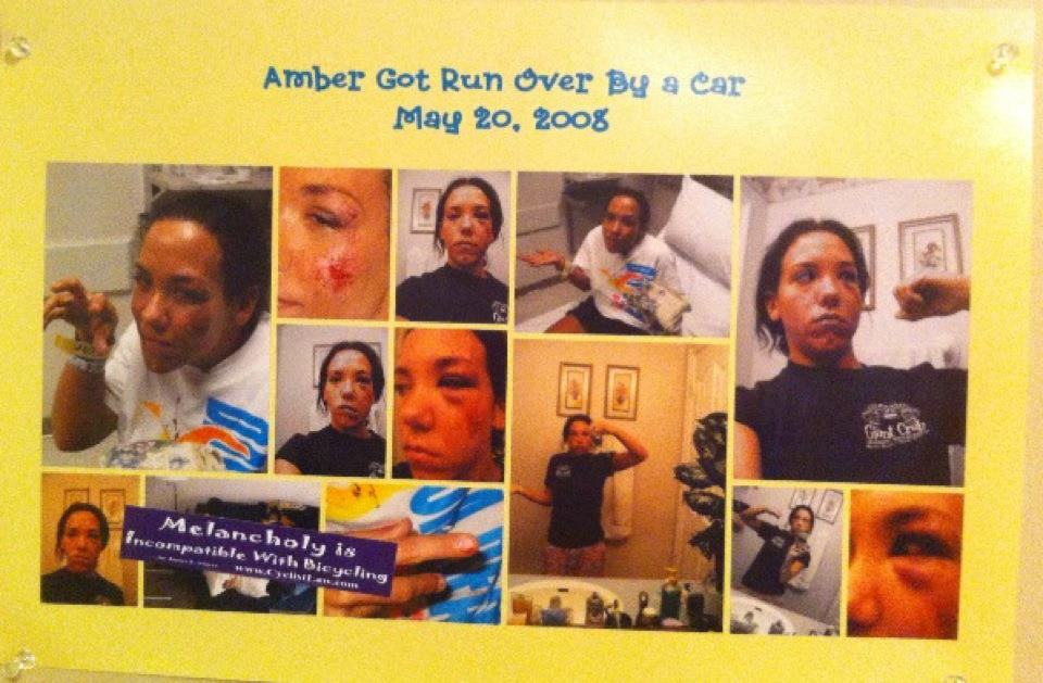 I made a collage of the accident because why not. 2008.