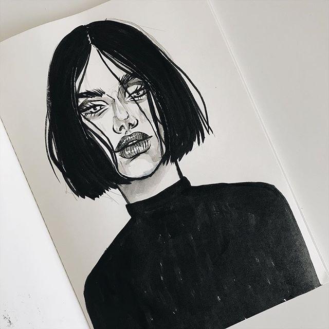 Quick ink sketch sketchbook #ink
