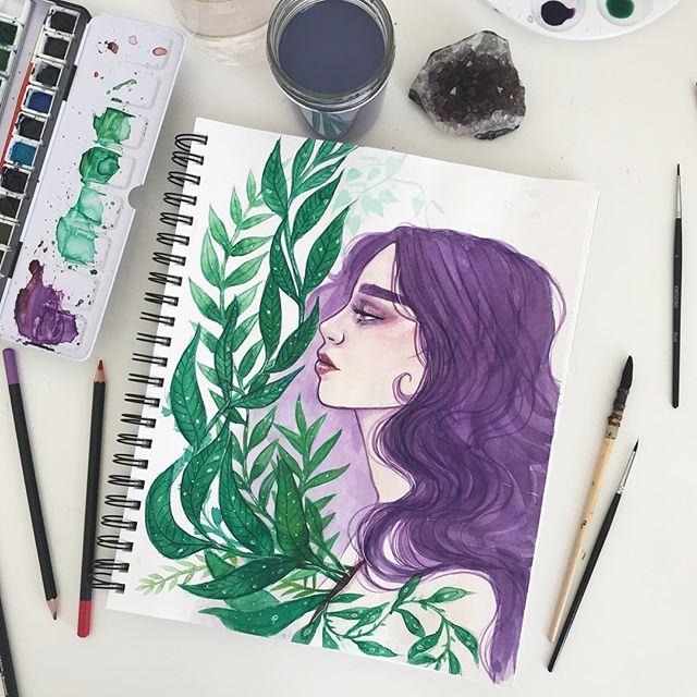 Overgrown 🍃🌱🌿 #watercolor #watercolorpainting