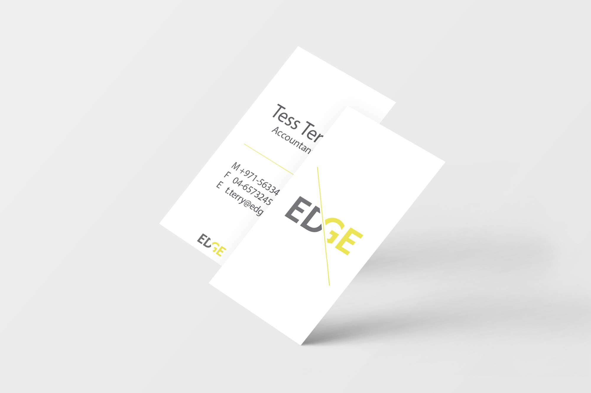 Edge    Brand identity for a small startup company.