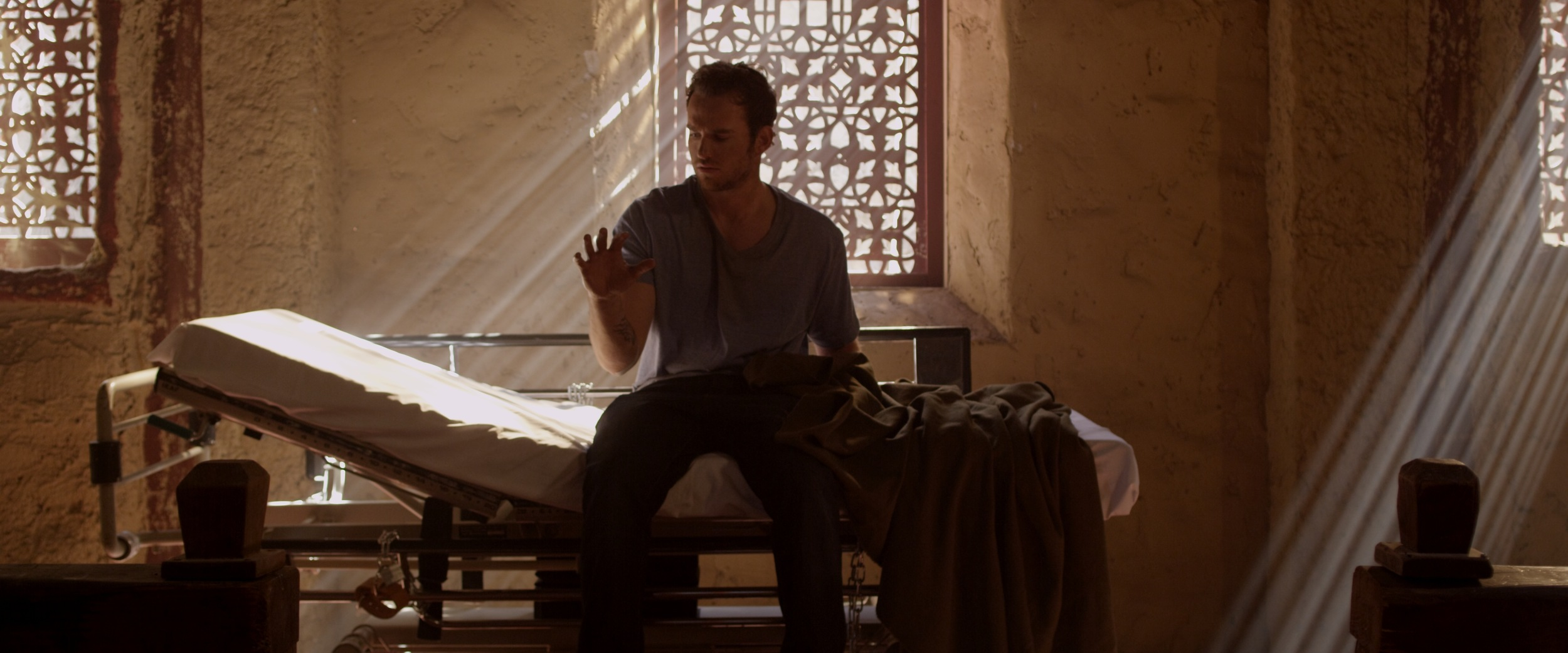 Amazing church location...Actor Zack Gold awakens from a nightmare.