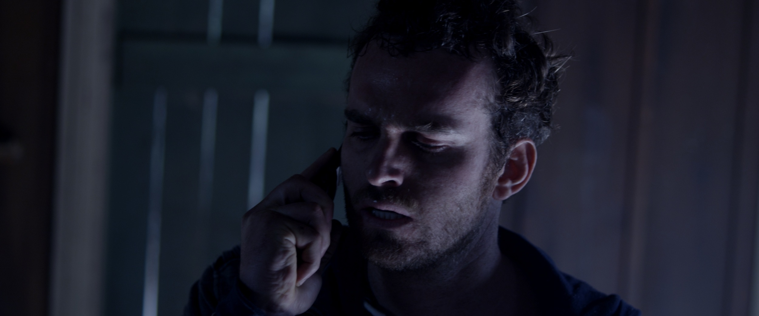 Actor Zack Gold fields an important phone call.