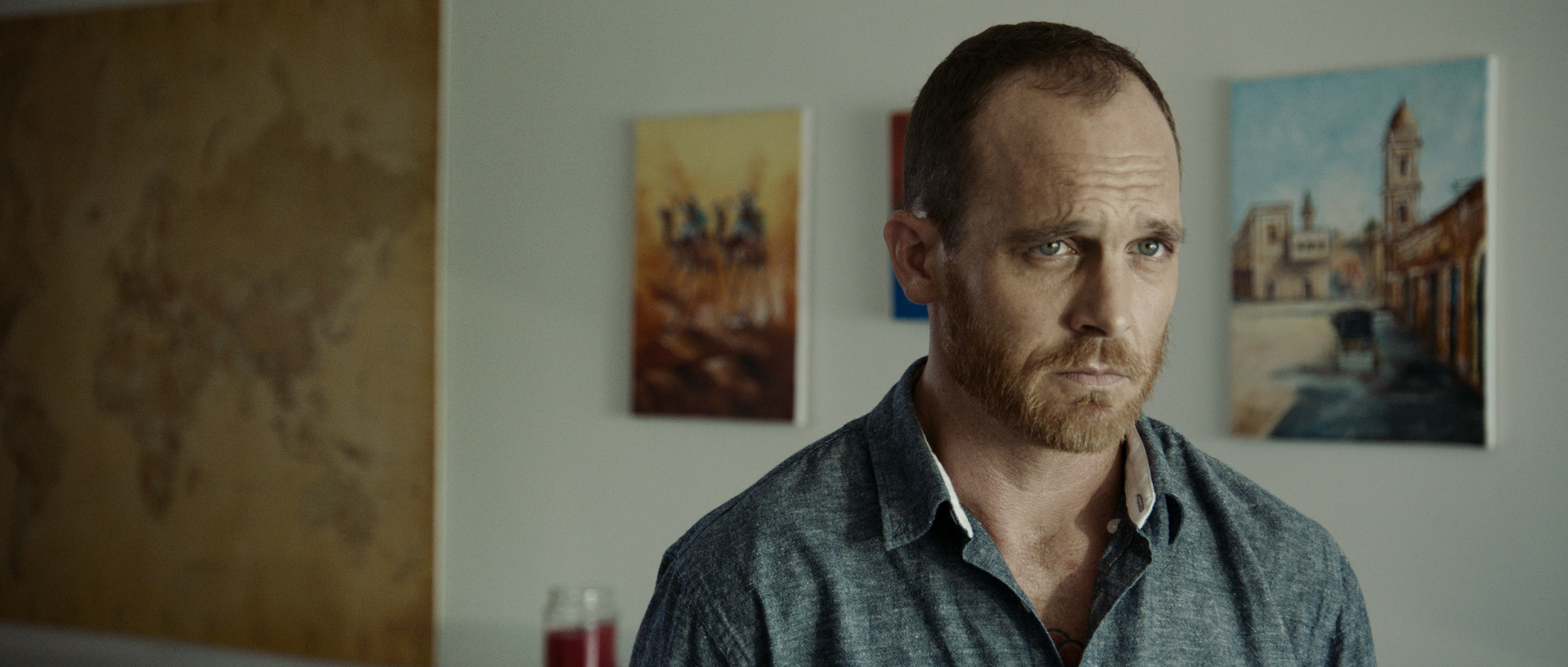 Actor Ethan Embry lost in thought...