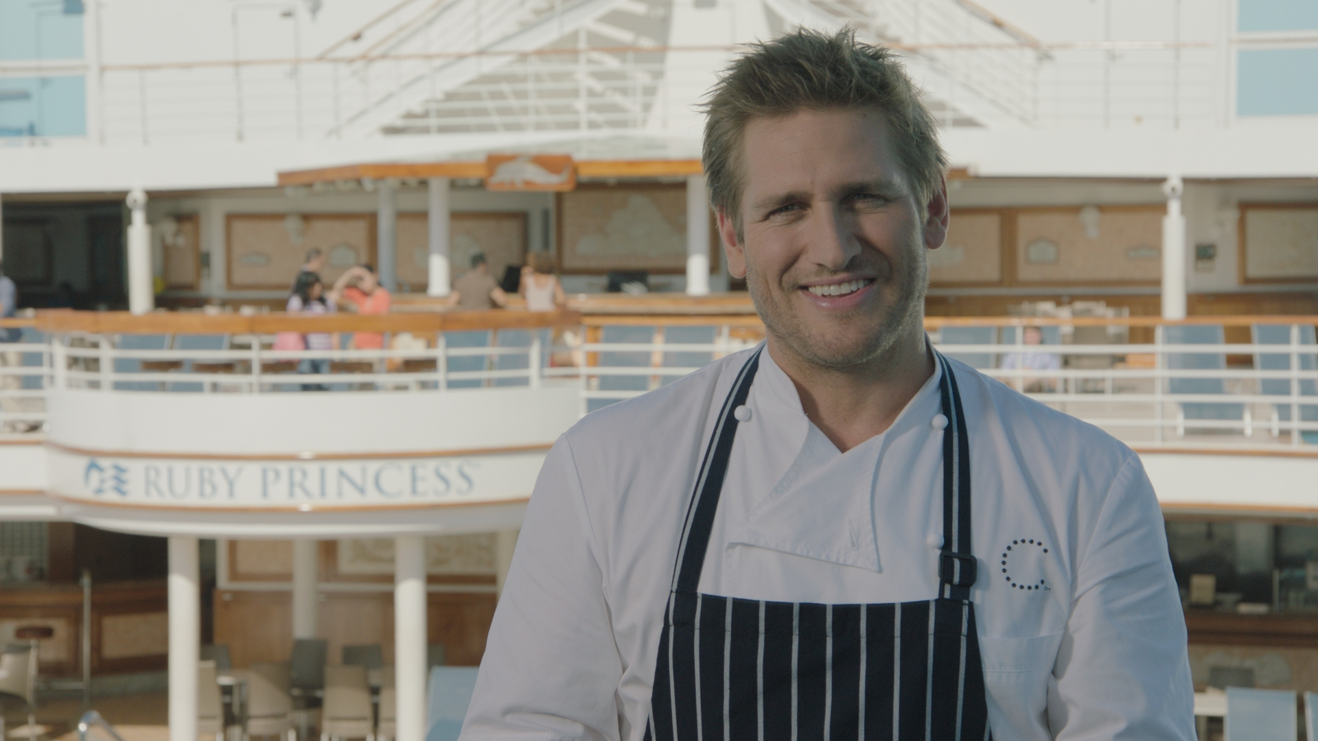 Chef Stone aboard the Ruby Princess.