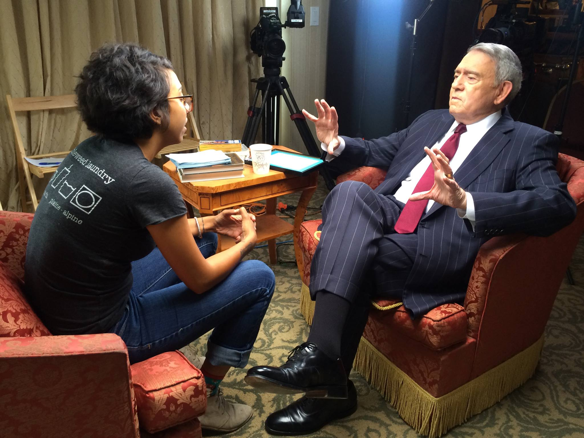 Sitting down with Dan Rather