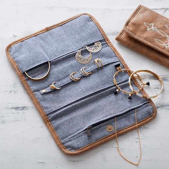 - If you travel often, consider buying a travel jewelry case or jewelry roll. These a made specifically to carry jewelry and to keep it organized while travel. They are reusable and durable way to safely hold jewelry