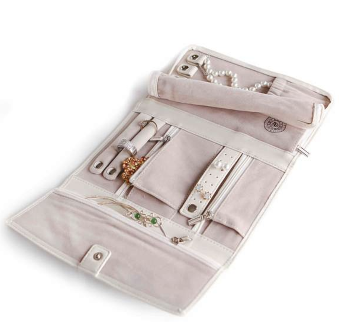 Vegan leather jewelry travel case from Case Elegance