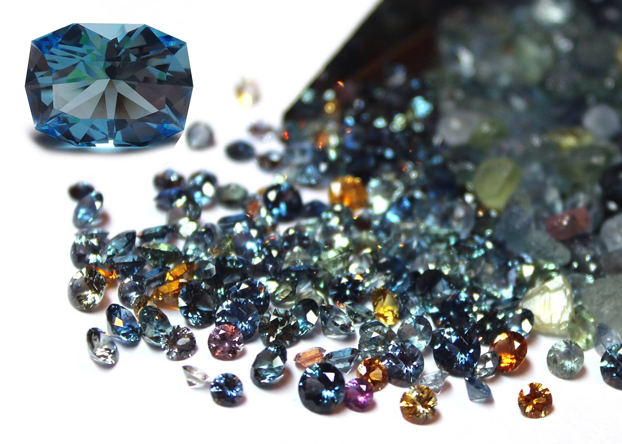 Montana Sapphires, courtesy of  Americut Gems