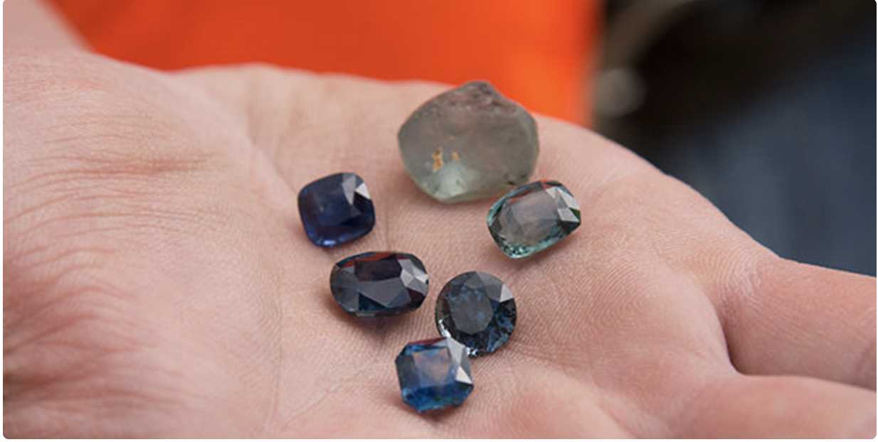 Rock Creek sapphires,  from Lucas Adam, GIA