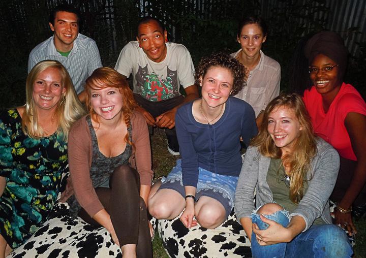 Justin Rabideau, Brandon Sadler, Hannah Perner Wilson, Jerushia Graham, Margaret Hiden, Marcy Starz, Ashley Schick, and Nikki Starz