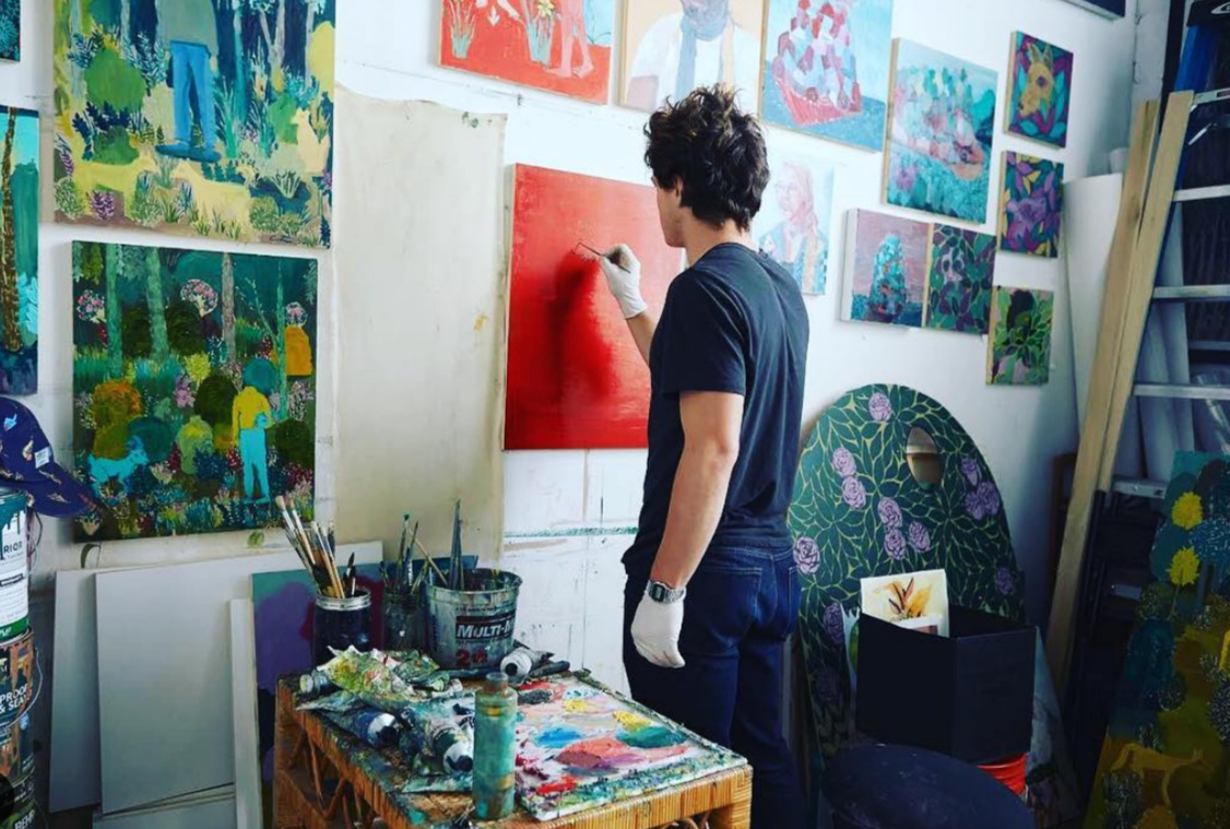 Andrew Catanese pictured above working in his TCP studio located at the Goat Farm Arts Center. (photo Wyatt Kane)