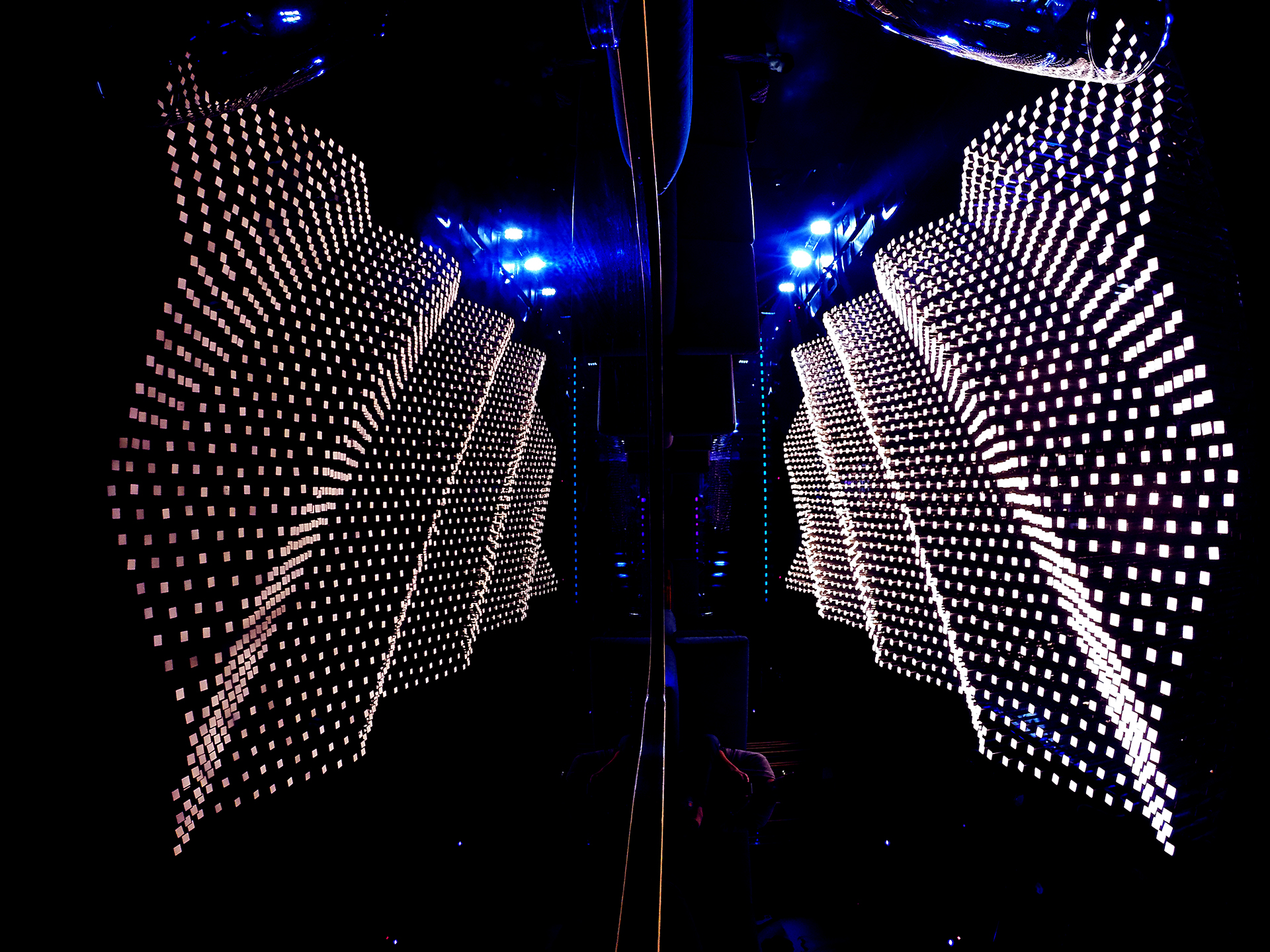 Largest oled interactive ceiling installation