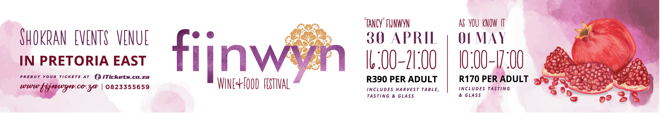 We also try and keep a balance between old favourites and exciting new farms. VIsit us on 30 april at our Fancy Fijnwyn or on 01 May for a Fijnwyn as you know it and taste some amazing wines.