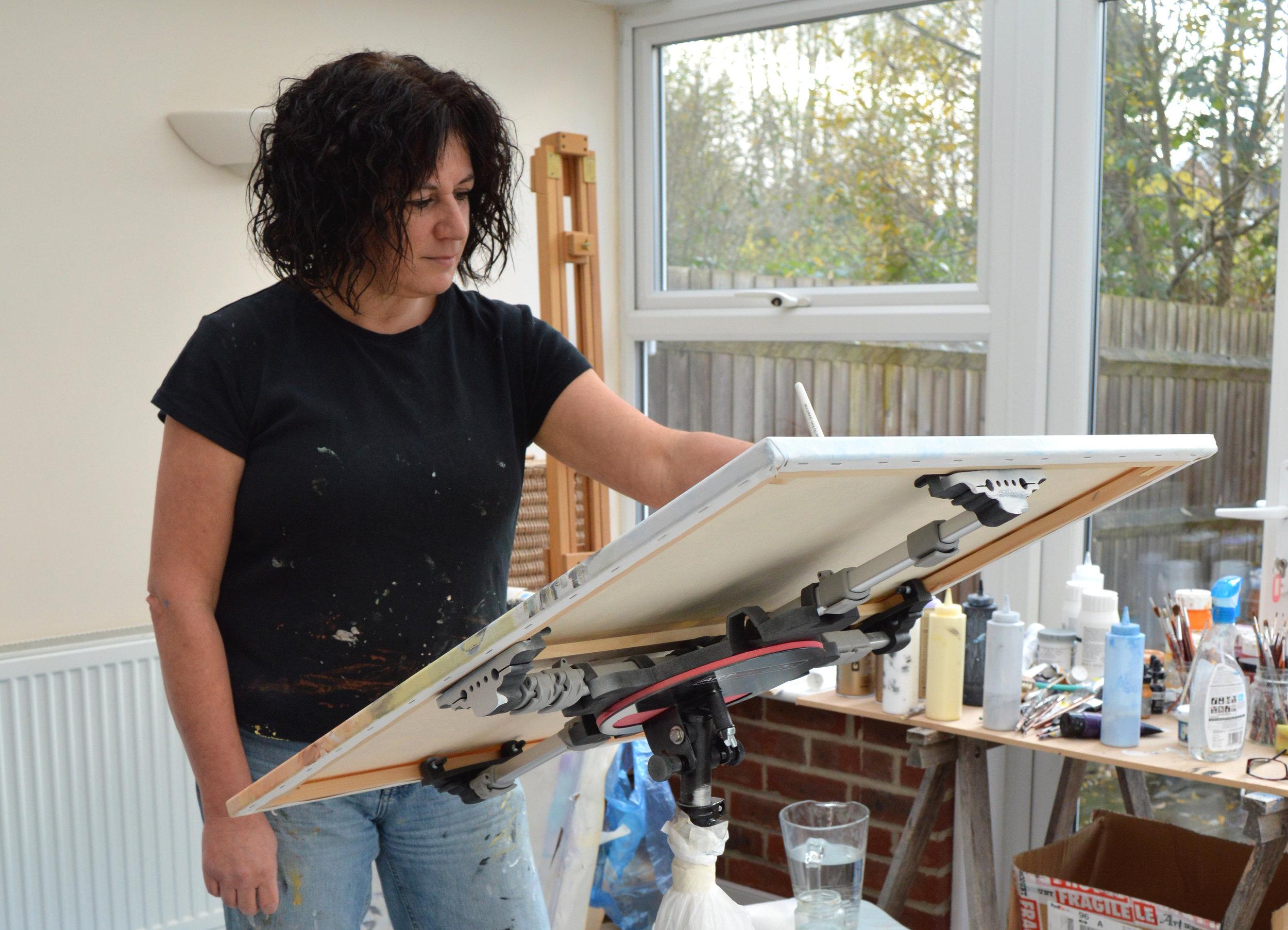 Lorraine Benton at the Little Van Gogh Artist Residency