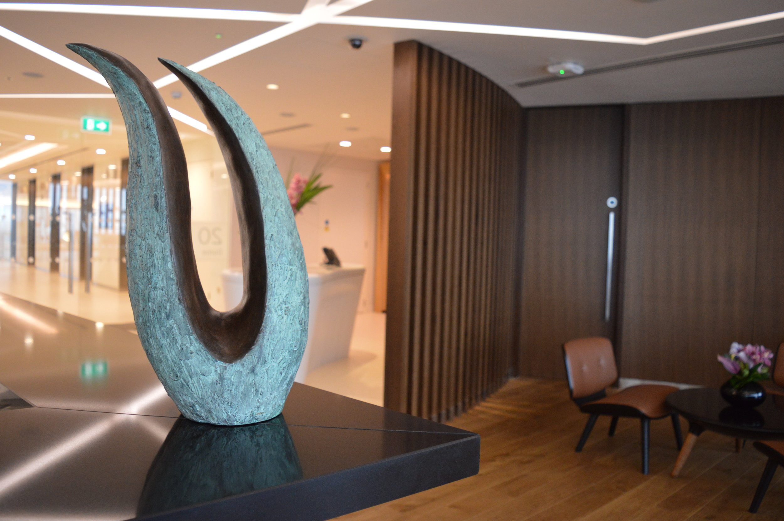Bronze Resin Sculpture Office Art Consultants