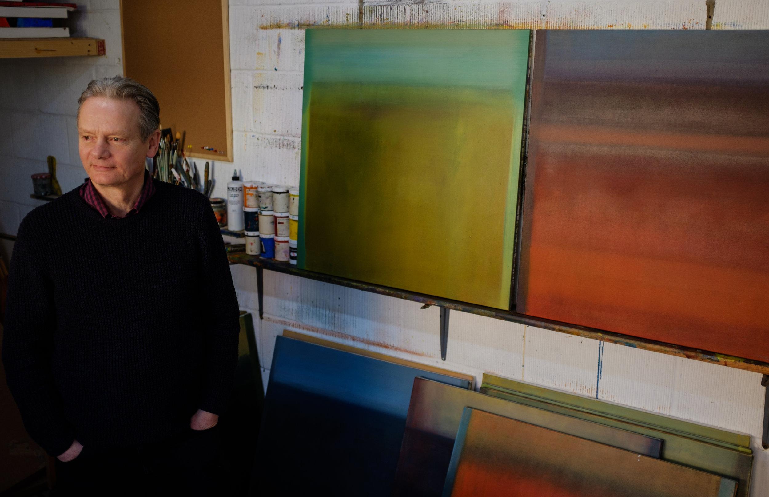 Peter in his studio