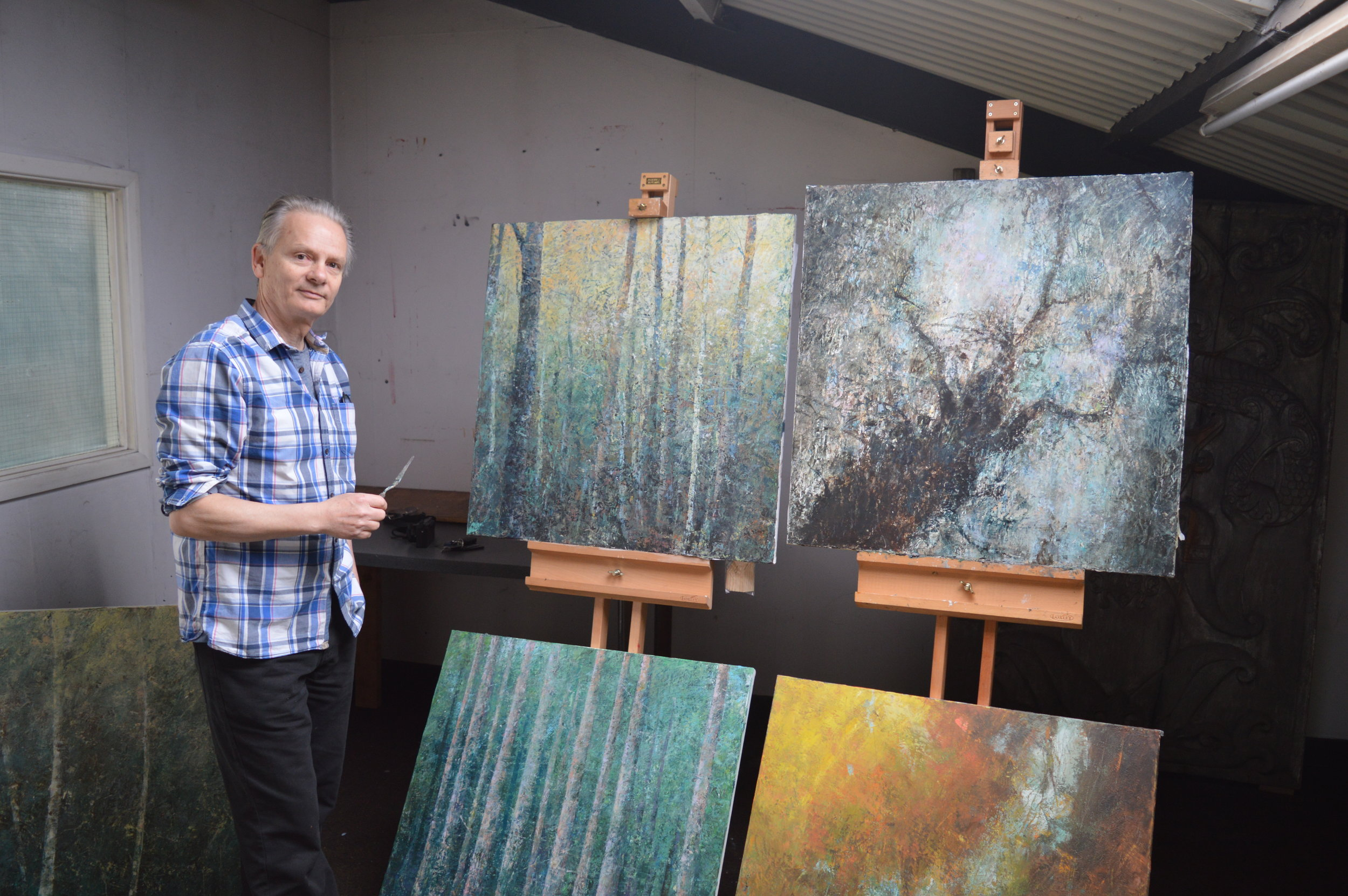Peter Corr in the New Forest studio