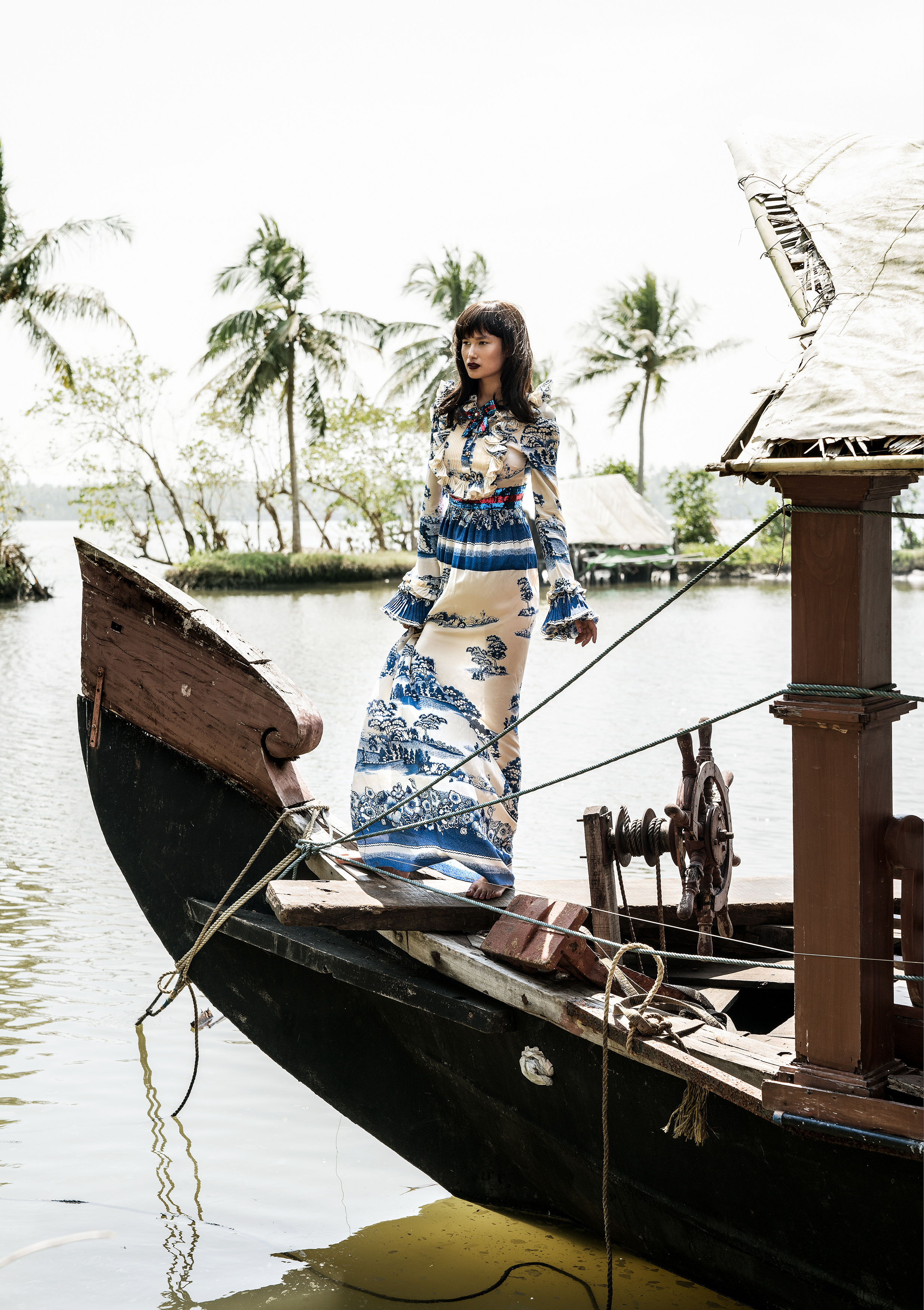 Varsha Thape in Gucci dress for Elle - Fort Kochi, Kerala India