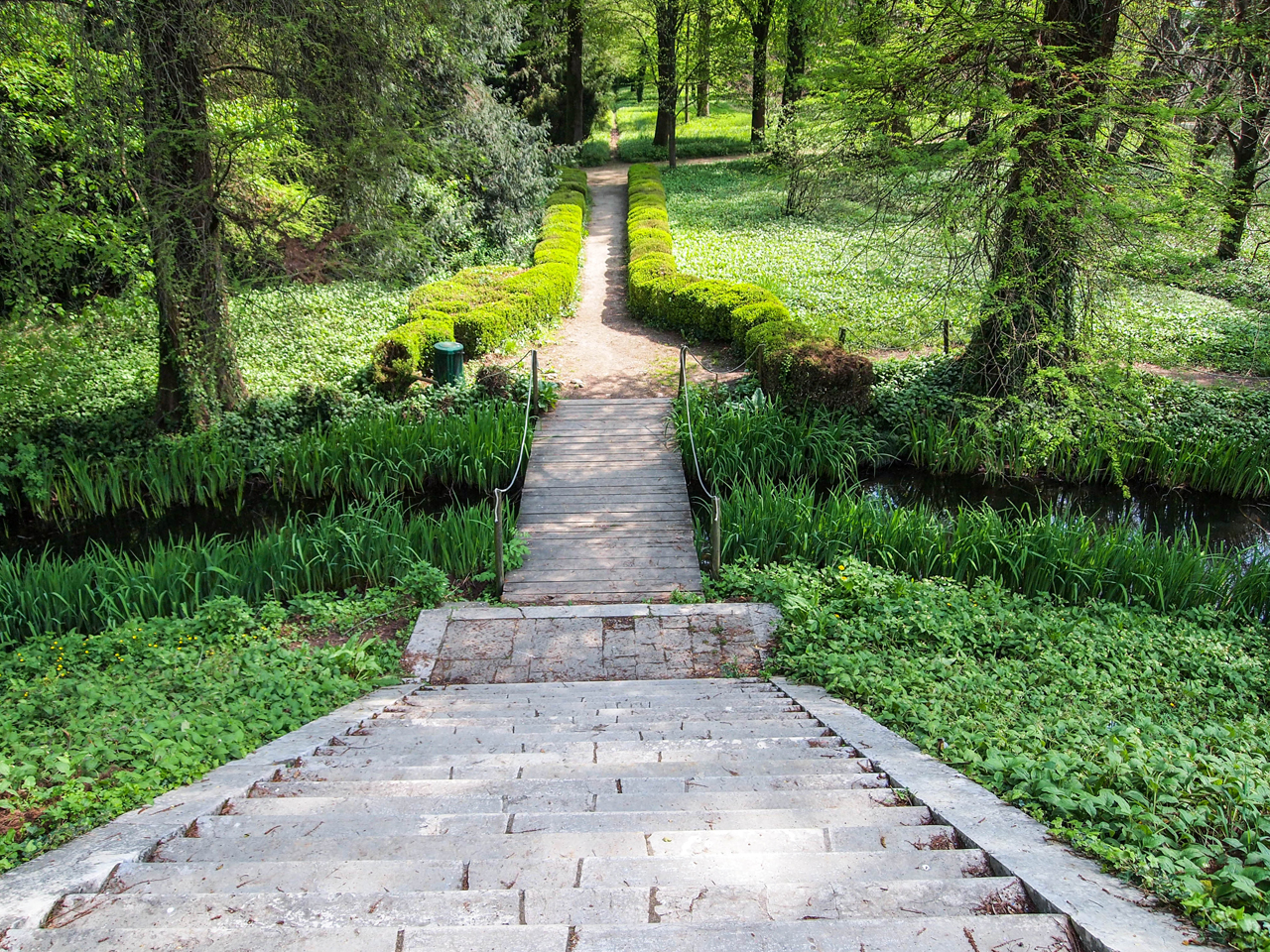 Artificial hill in the garden of Villa Pisani