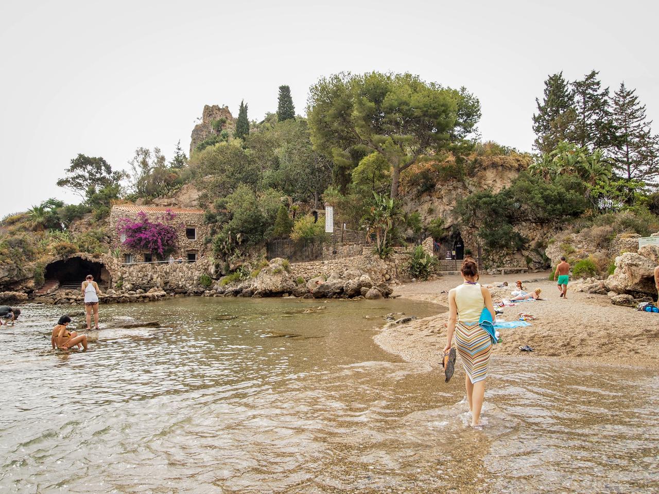 A beachbelow Taormina