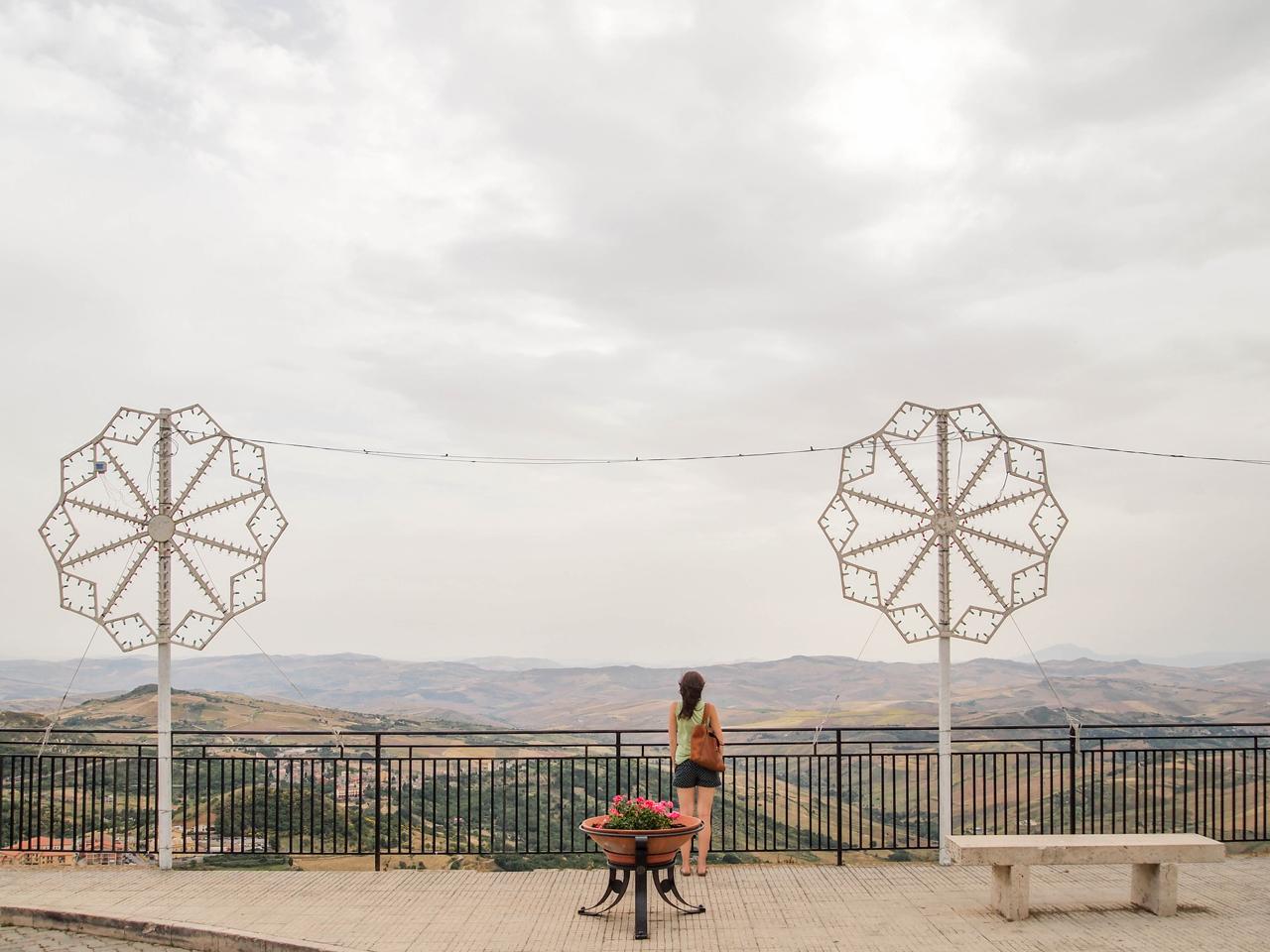 Enjoying the view from Petralia