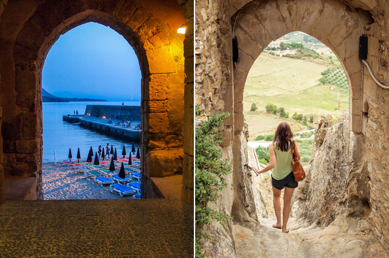Dusk in Cefalu and the next morning in Sperlinga