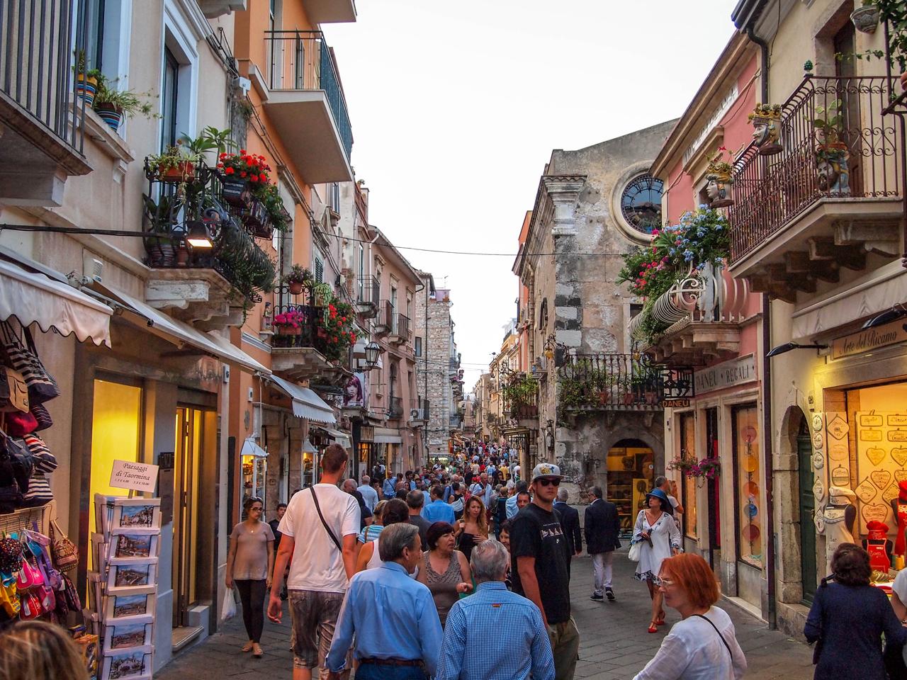 Evening paseggiata in Taormina