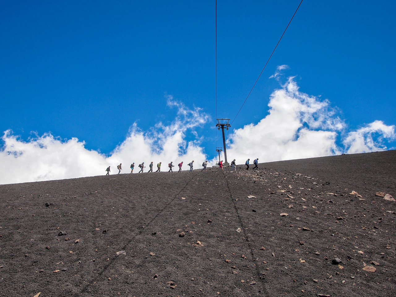 Trekking on Mount Etna