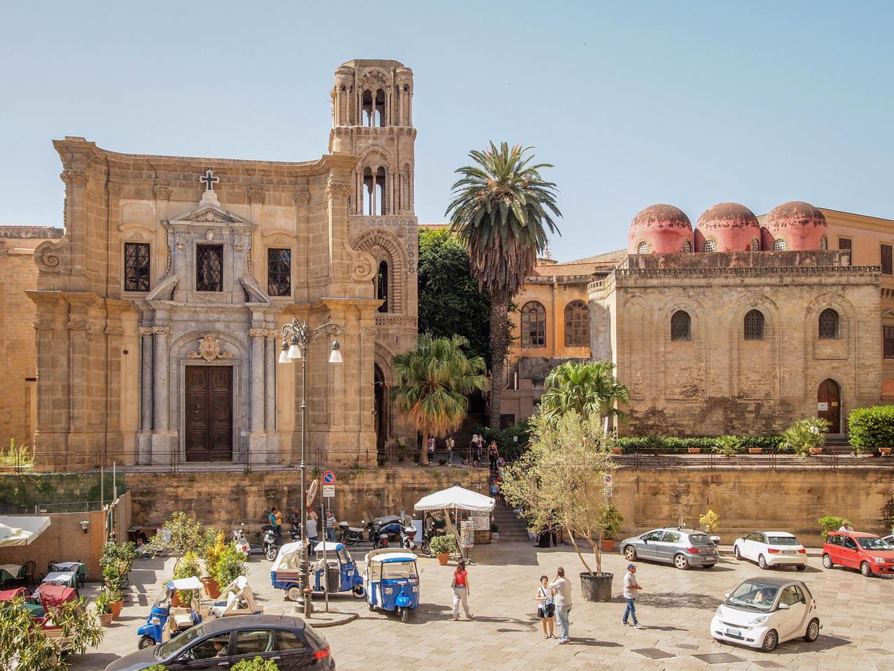 Chiesa della Martorana and Chiesa di San Cataldo in Palermo