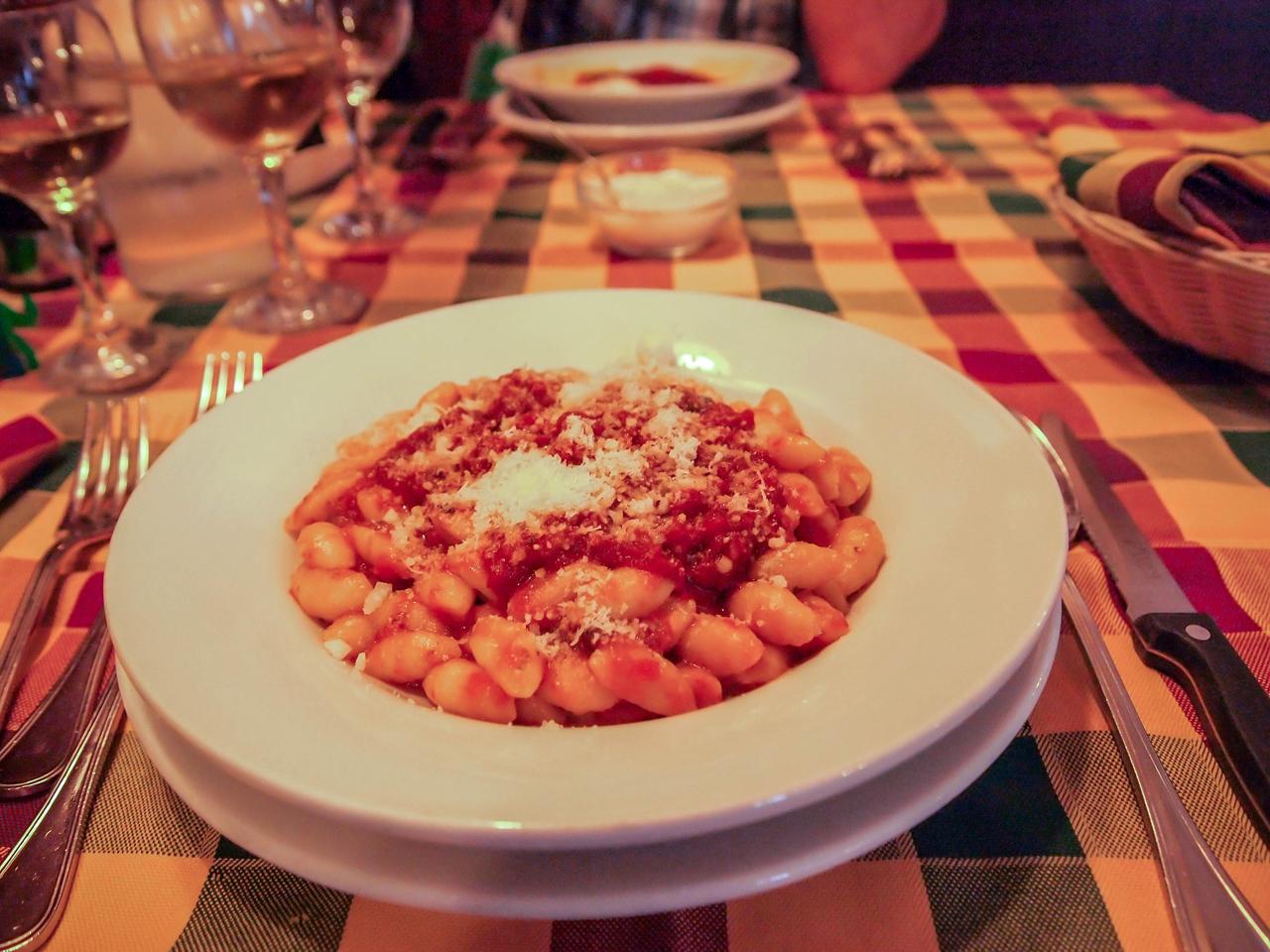 Pasta Norma in the lovely resturant called Osteria dei Sapori Perduti in Modica