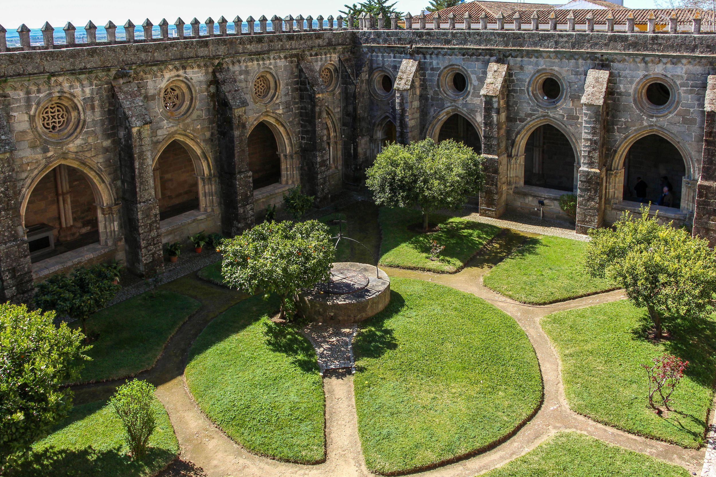 View of the cloister from the cathedral walls