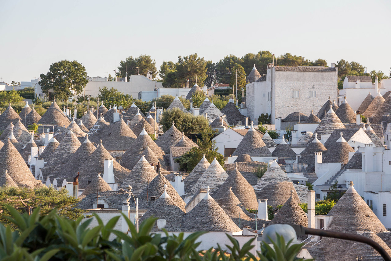 View of the trulli in Alberobello
