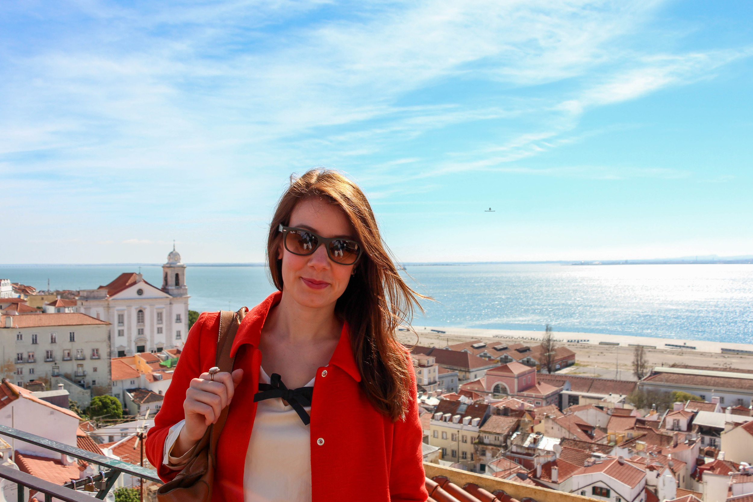 Soaking up the sun and the views of Alfama