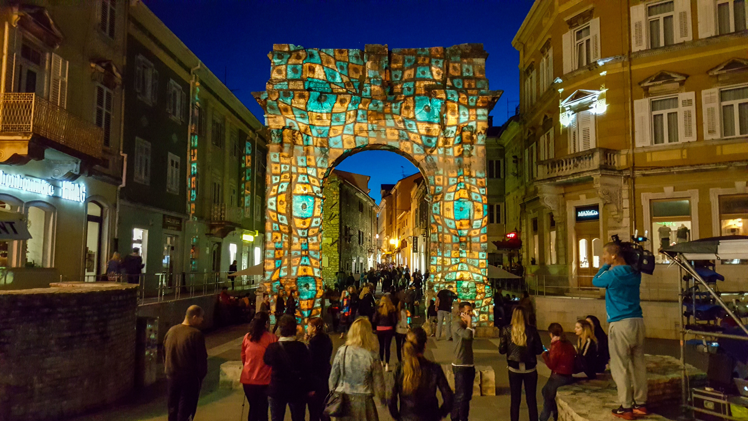 Golden Gate in Pula during Visualia Festival