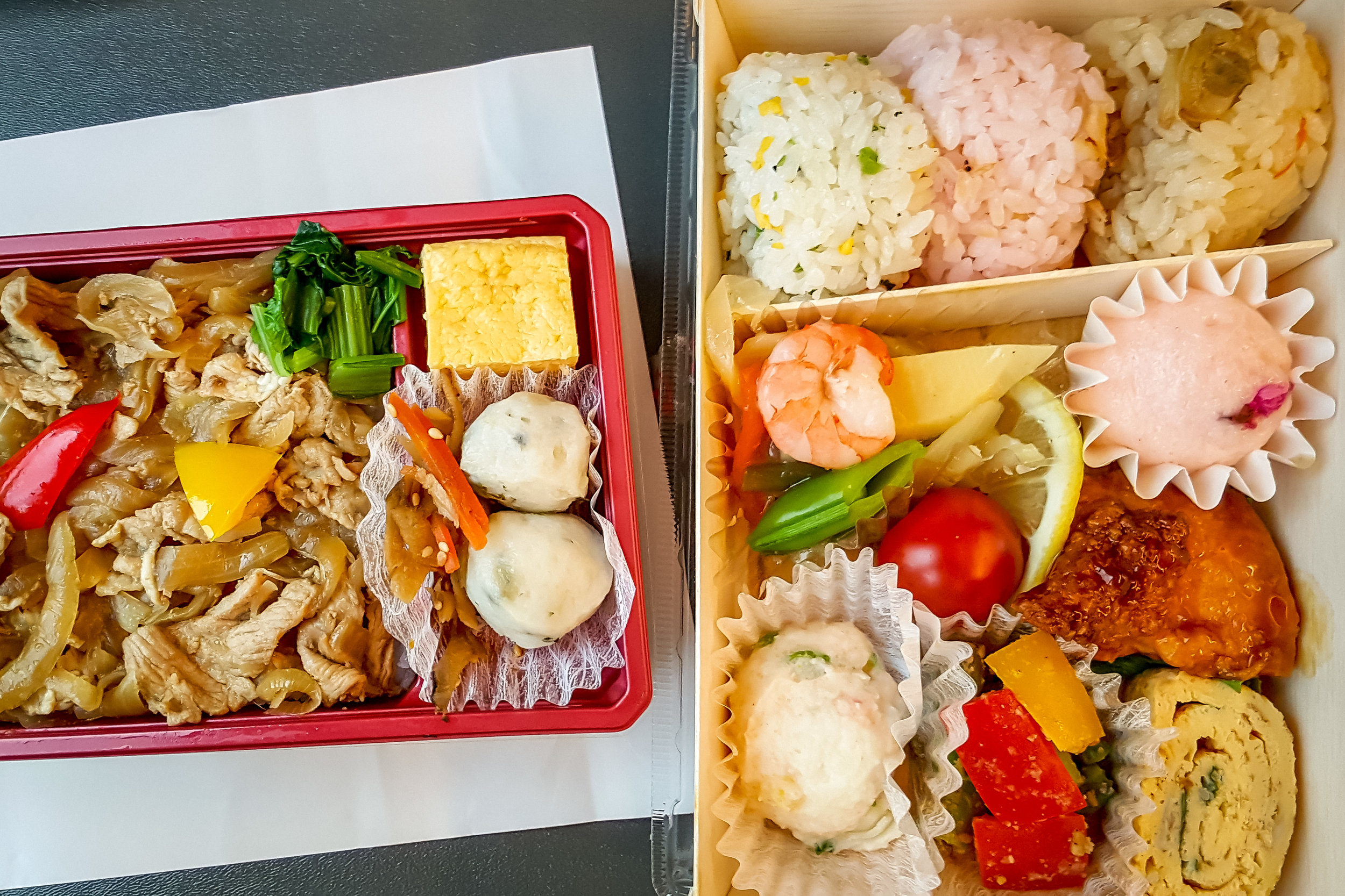 - In case you wondered what does a bento box look like, here is a photo I impatiently took on the train to Osaka (you'll excuse me given the circumstances).If you enjoyed this story, let's connect on Facebook Instagram or Twitter- I'd love to hear from you.