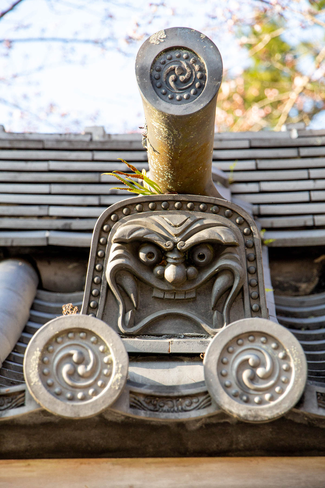 Detail of a temple in Kyoto