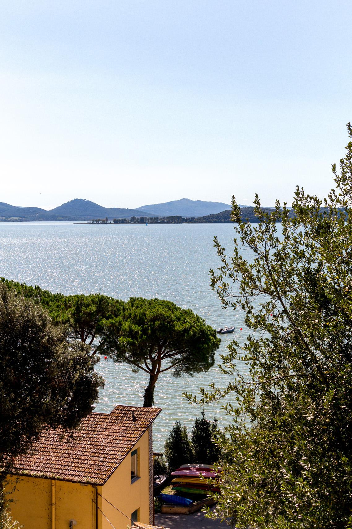 Trasimeno lake in Umbria, Italy