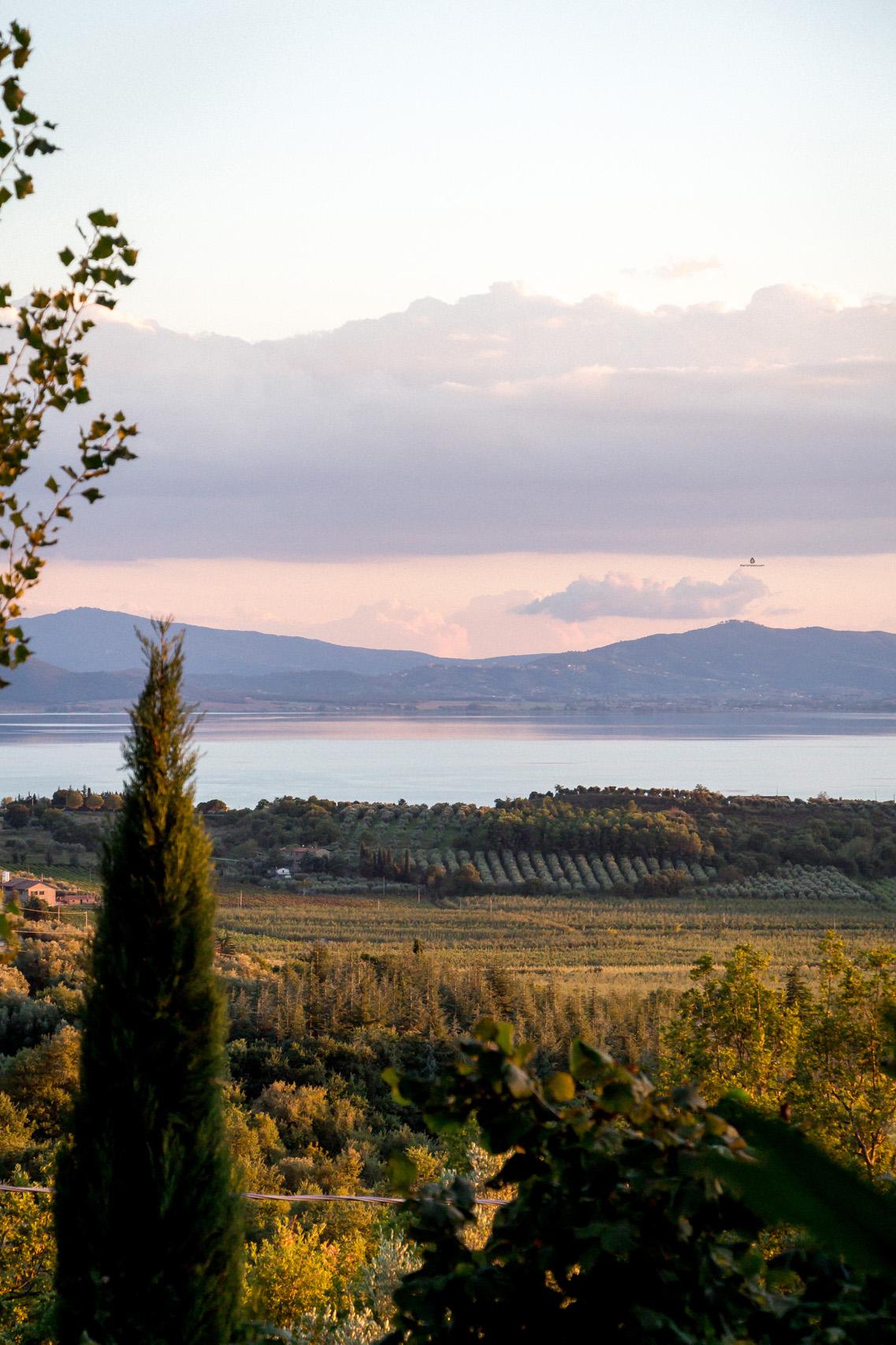 Views of Trasimeno lake, Umbria