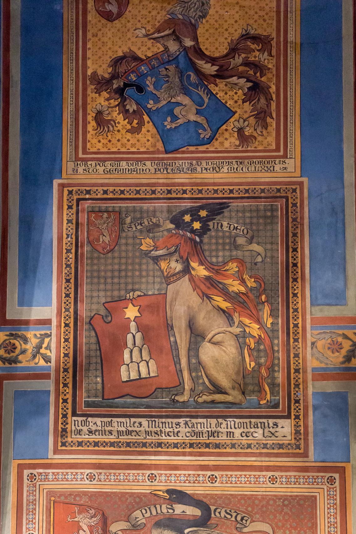 Frescoes in Perugia, Italy