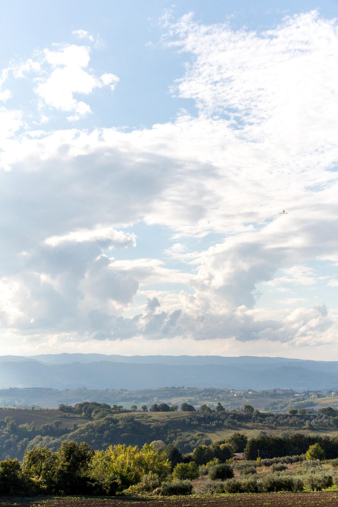 Landscapes around Todi, Umbria