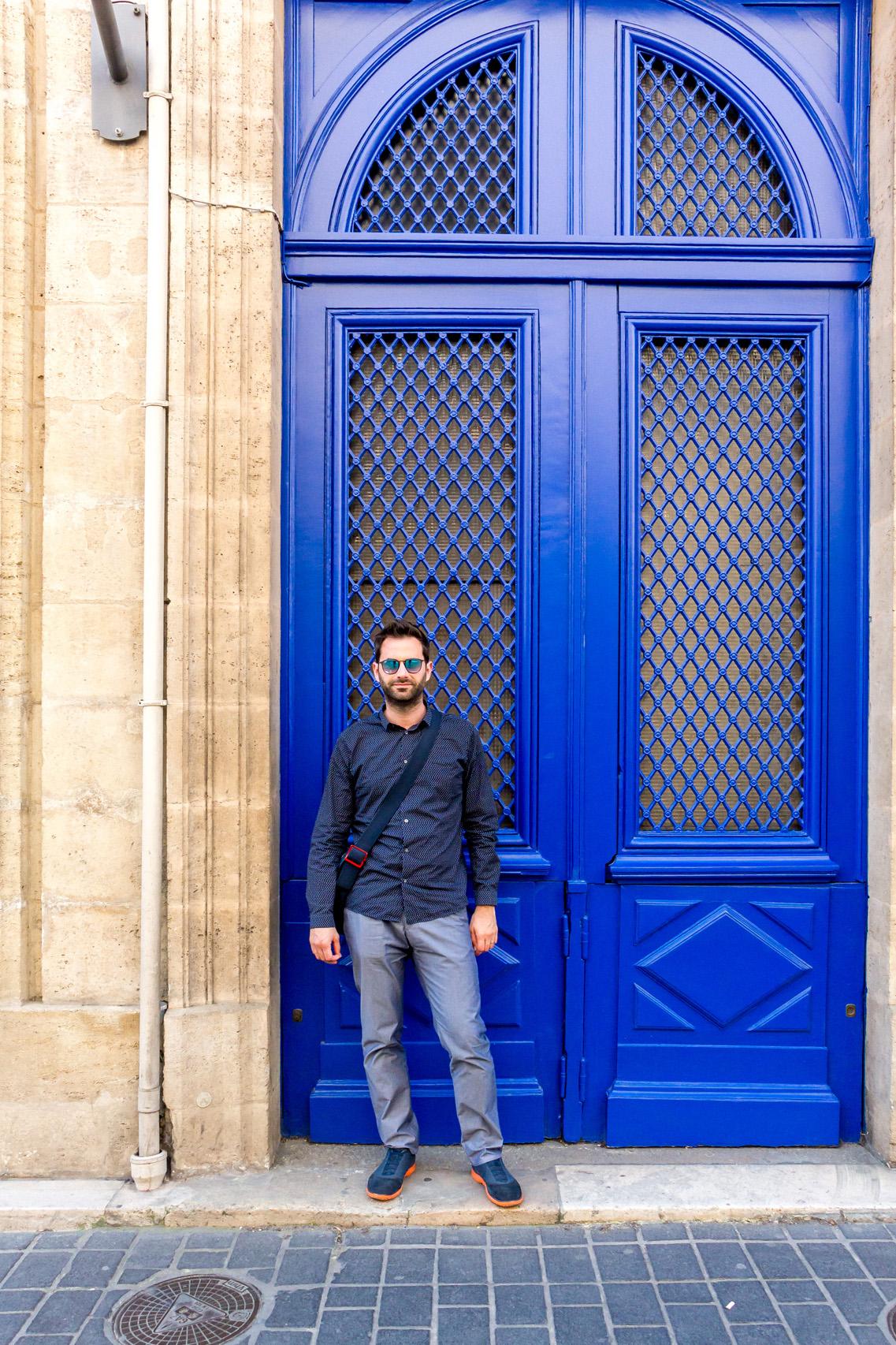 Blue doors of Bordeaux