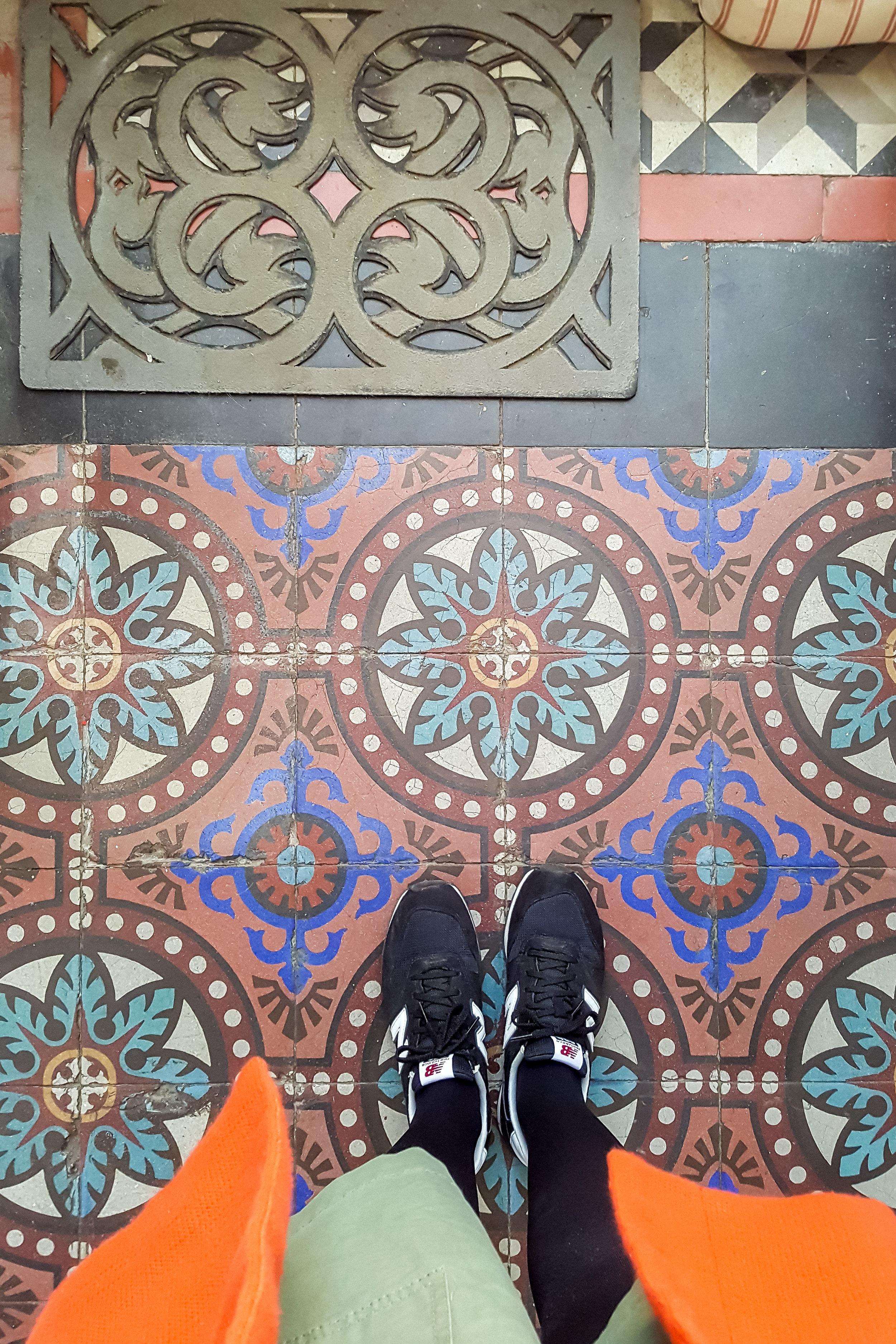 Floor tiles in a house near Bordeaux, France