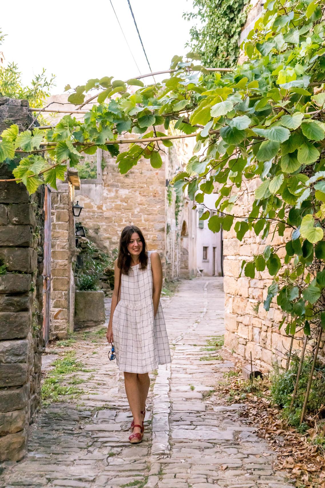 On the street in Oprtalj, Istria