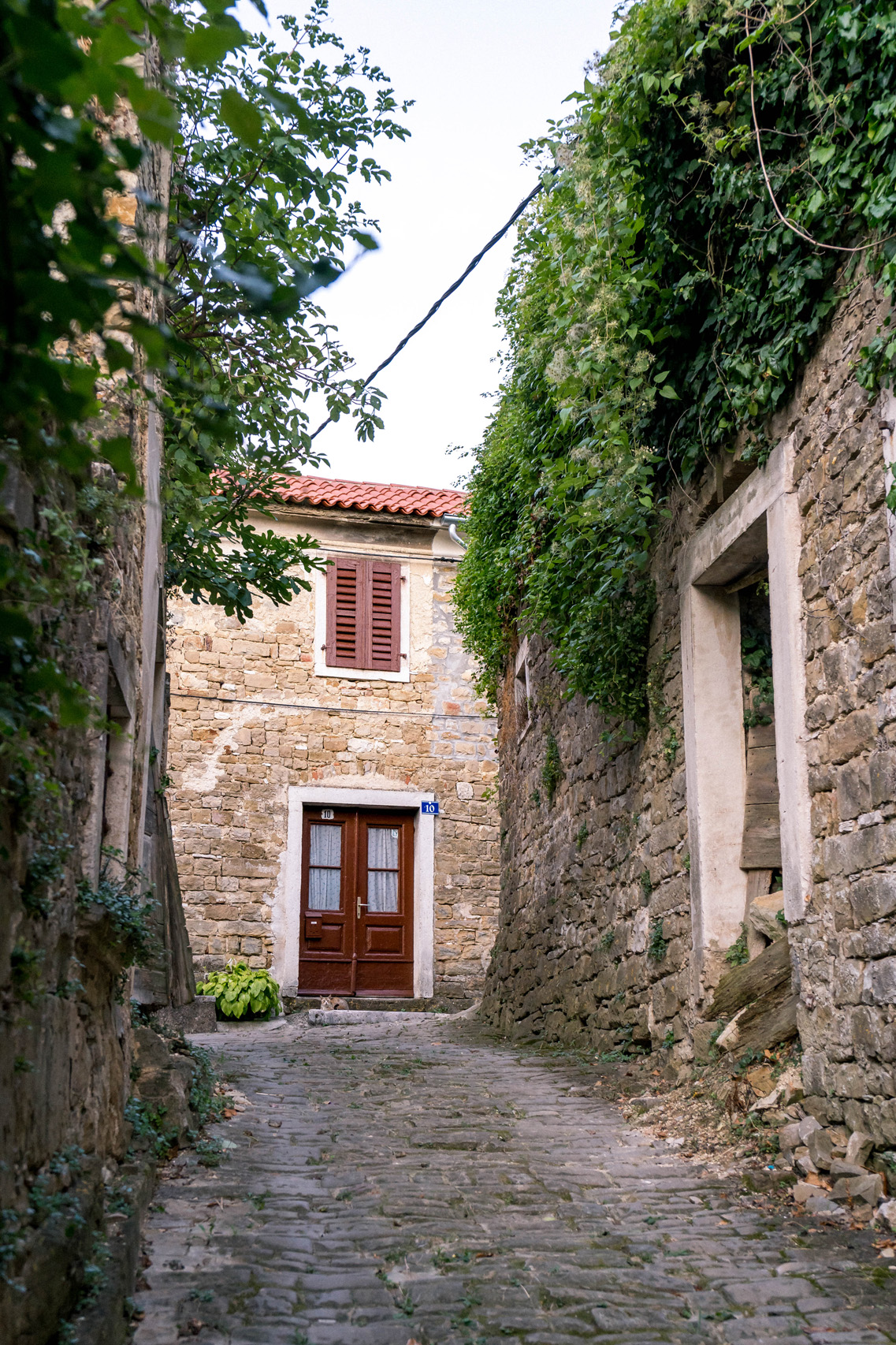 The streets of Zavrsje, Istria