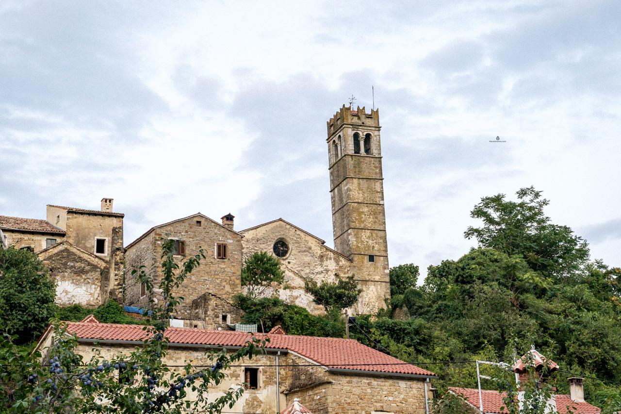 Sleepy town of Zavrsje, Istria