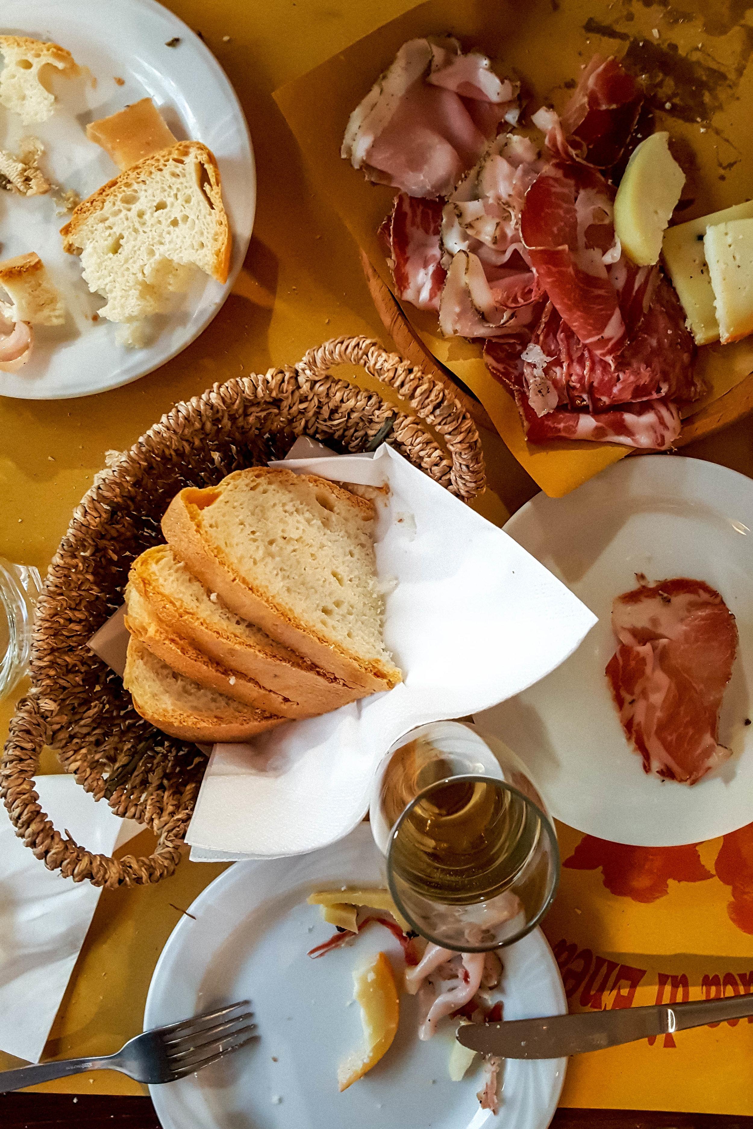 Lunch at La Buca di Enea, Pienza
