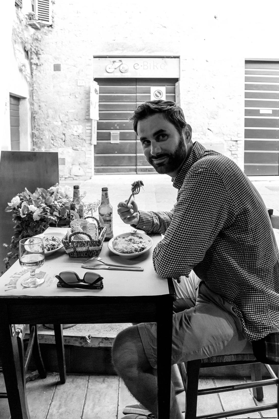 Lunch in Pienza