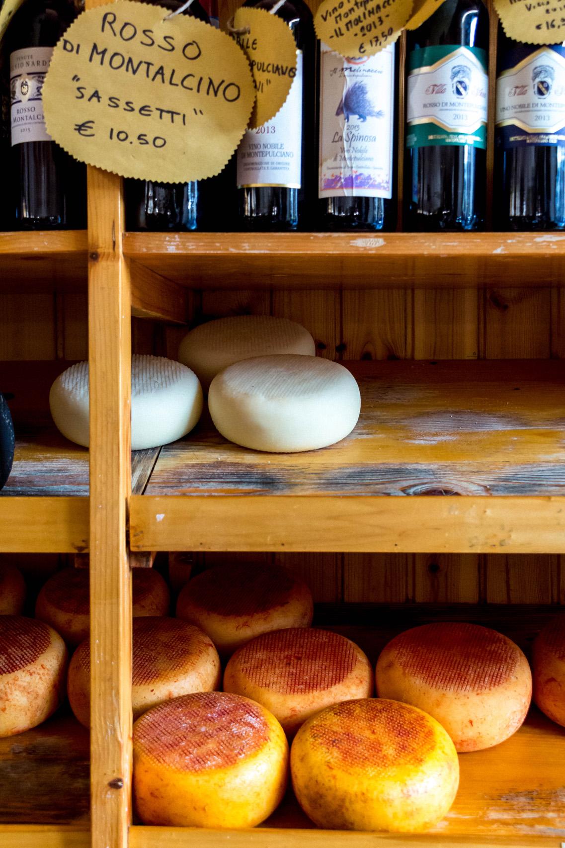 The pecorino from Pienza, Tuscany