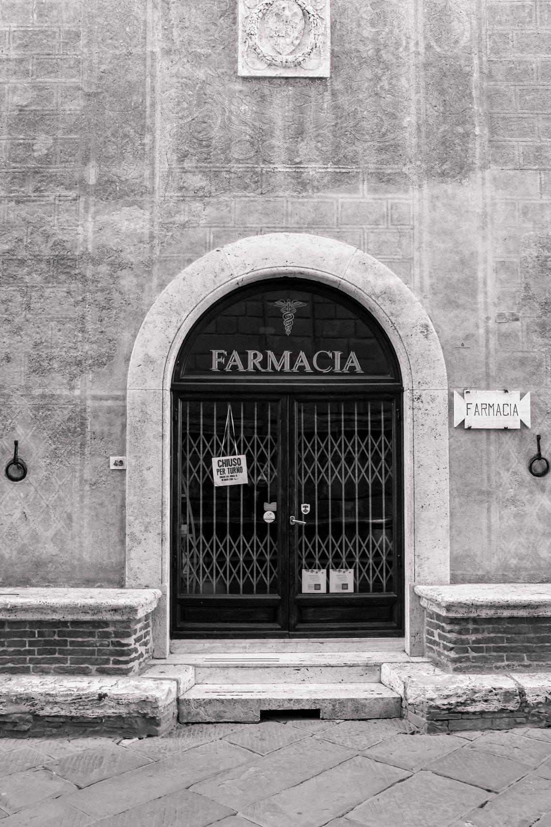 Pharmacy in Pienza, Tuscany