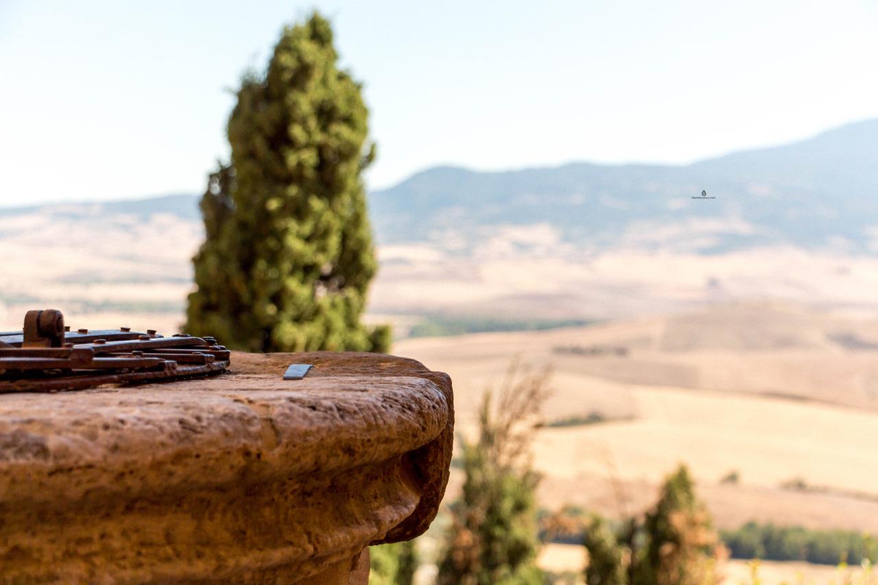 Detail of Pienza, Tuscany